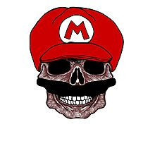 SUPER MARIO SKULL T-SHIRT Photographic Print