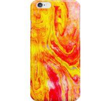marbled orangeyellow iPhone Case/Skin