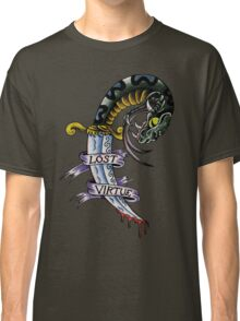 Lost Virtue Snake Dagger Tattoo Art Classic T-Shirt