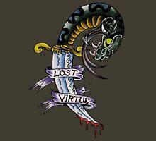 Lost Virtue Snake Dagger Tattoo Art Unisex T-Shirt