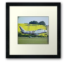 North American F-86A Sabre on take off Framed Print