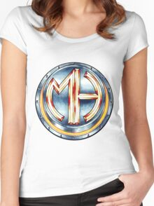 Mars Hotel Steelbutton-Logo Women's Fitted Scoop T-Shirt