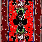 King of the clubs, Iphone case by Carolyn Clark