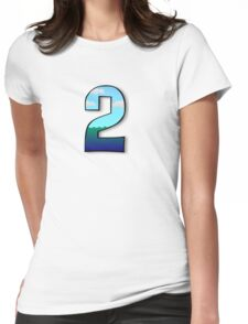 number 2 two Womens Fitted T-Shirt