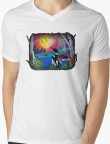 Loon Lake Mens V-Neck T-Shirt