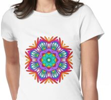 Tropical Kaleidoscope design Womens Fitted T-Shirt