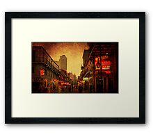 Bourbon Street Grunge Framed Print