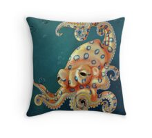 Blue-ringed Octo Throw Pillow