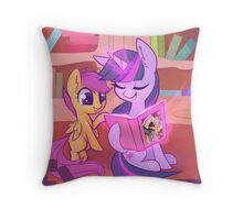 Reading with the Princess Throw Pillow