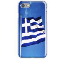 Greek flag iPhone Case/Skin