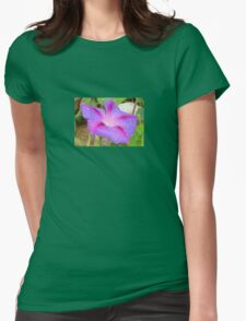 Mauve and Magenta Morning Glory with Water Drops T-Shirt