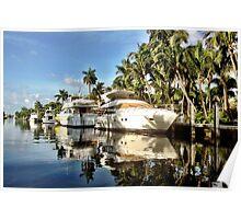 Las Olas waters, Sunday morning. Poster