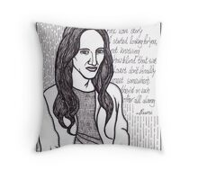 to the girl with the beautiful soul Throw Pillow