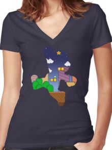 Hero:Plumber Women's Fitted V-Neck T-Shirt