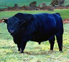 Black Bull in Beausang's Field by eastcorkpainter