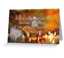 Memory Quotes Greeting Card