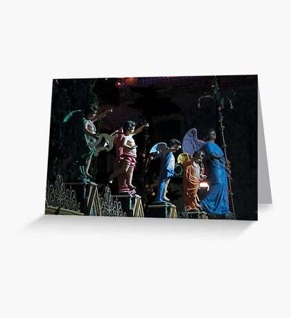 Angels In The Night Greeting Card