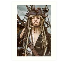 Captain Jack Sparrow  Art Print