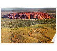Uluru Ayers Rock Aerial Poster