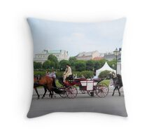 Austria - horse and buggy ride Throw Pillow