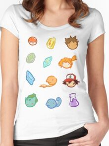Kanto Stickers Women's Fitted Scoop T-Shirt
