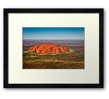Ayers Rock & Mt Connor Framed Print