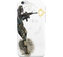 Anime girl with gun iPhone Case/Skin