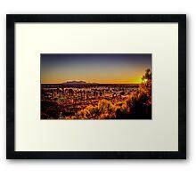 The Olgas Sunset Framed Print