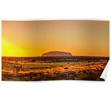 Ayers Rock Sunrise Poster