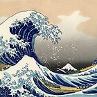 'The Great Wave Off Kanagawa' by Katsushika Hokusai (Reproduction) by Roz Barron Abellera