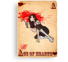 Ace of Hearts Canvas Print