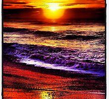 Carlsbad Beach Winter Sunset by photosbyamy