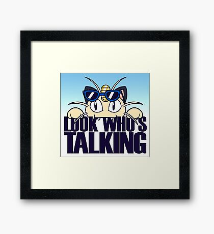 Look Who's Talking Framed Print