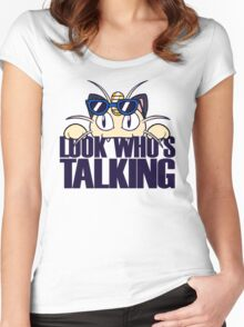 Look Who's Talking Women's Fitted Scoop T-Shirt