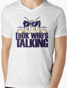 Look Who's Talking Mens V-Neck T-Shirt