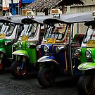 Colorful Tuk Tuks, Bangkok by Duane Bigsby