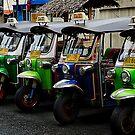 Colorful Tuk Tuks, Bangkok by Duane Bigsby