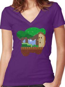 Hero:Dreamland Women's Fitted V-Neck T-Shirt