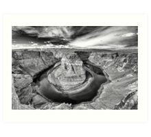 Looking down into the Depths of the Canyon - Horseshoe Bend Art Print