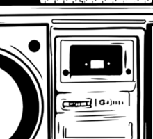 A Boombox Is Not A Toy Sticker