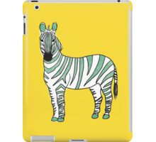 Zebra - Green iPad Case/Skin