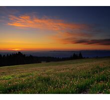 Sunset on Marys Peak Photographic Print