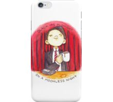 black as midnight on a moonless night iPhone Case/Skin