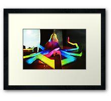 Rainbow Octopus vs Big Wheel - Lomo Framed Print