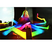 Rainbow Octopus vs Big Wheel - Lomo Photographic Print