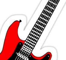 Strat red Sticker