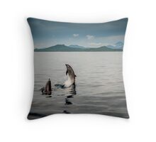 Dances with Dolphins Throw Pillow