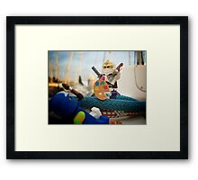 Training: The brush is mightier than the samurai? Framed Print