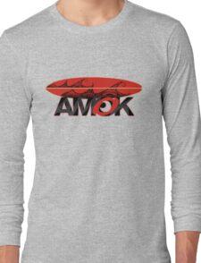 AMOK - tribal wave surfboard Long Sleeve T-Shirt