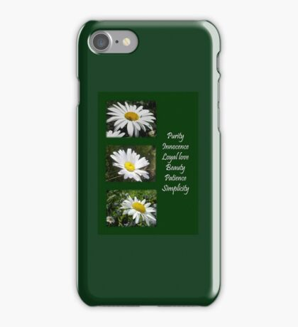 Common Daisy Collage Purity, Innocence and Love Greeting iPhone Case/Skin